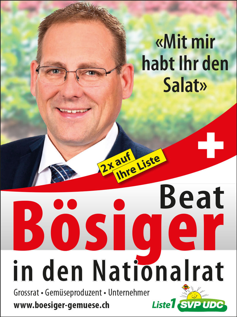 Beat Bösiger in den Nationalrat